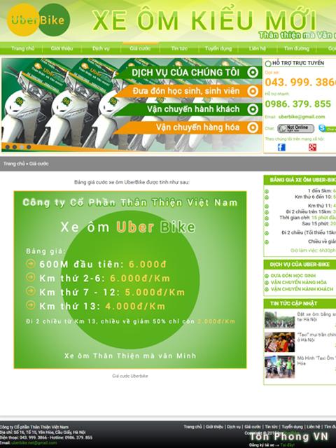 UberBike dịch vụ xe ôm tiện lợi thân thiện