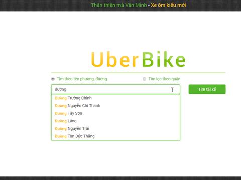 Truy cập và gọi lái xe trực tiếp trên website