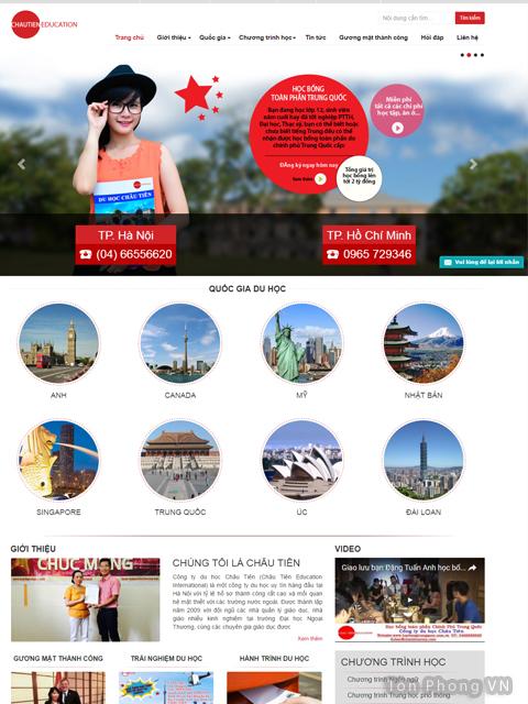 Website du học của tôn phong