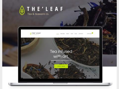 Thiết kế web giới thiệu & kinh doanh trà thảo dược